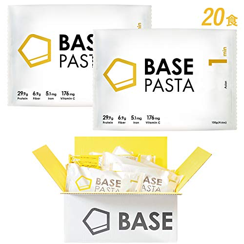 BASE PASTA ベースパスタ 完全食 完全栄養食 ソース1食分付き (アジアン, 20食分)