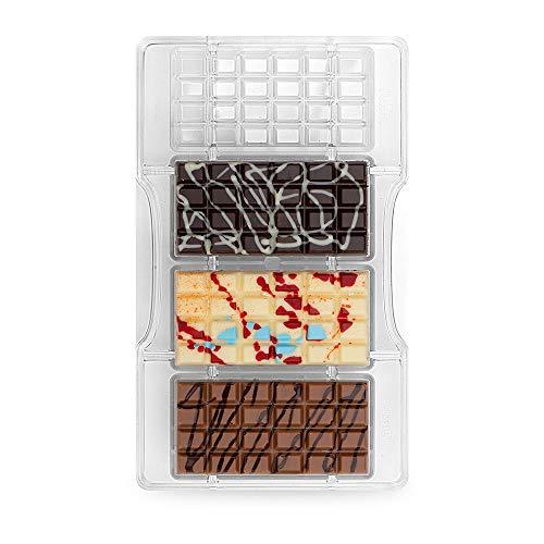Decora 0050145 Moule À Chocolat Tablette Classique 4CAV 85X42X10HMM 200X120X22