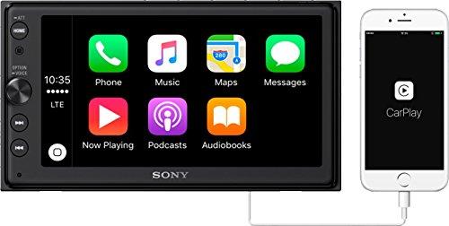 "Sony XAV-AX100 6.4"" Car Play/Android Auto Media Receiver with Bluetooth,black"