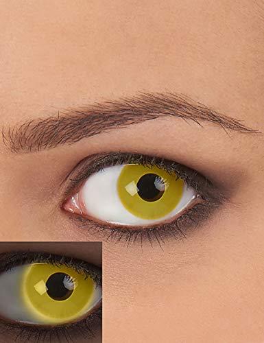 Generique - Lentilles Fantaisie UV Jaune Adulte sans Correction