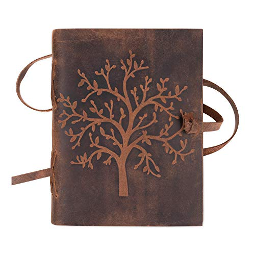 Leather Journal Tree of Life - Writing Notebook Handmade Leather Bound...