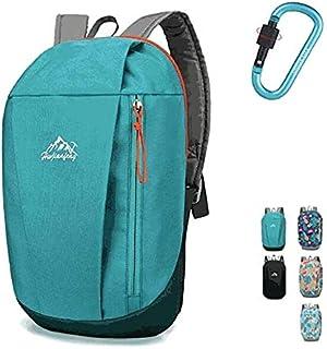 XinKu - Mochila de ciclismo de 10 litros, ligera, impermeable, para correr, camping, senderismo, esquí, con 1 mosquetón
