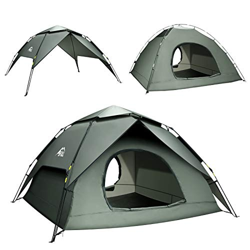 BFULL Pop-up Family Camping Tent 4-5 Persons, Waterproof Ventilated...
