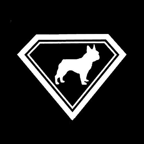 Vinilo Coche Exterior 19 * 15 cm Bulldog Francés Lindo Divertido Animal Pegatina Coche Moda Classic Cuerpo Decoración Accesorios Pegatinas Coche Familia (Color Name : Silver)