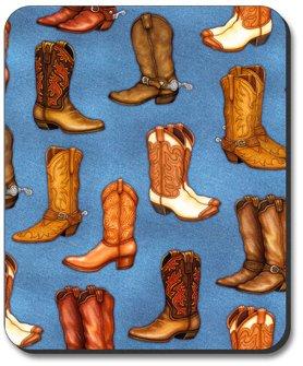 Cowboy Boots - Denim - Art Plates Brand Mouse Pad - Image by Dan Morris