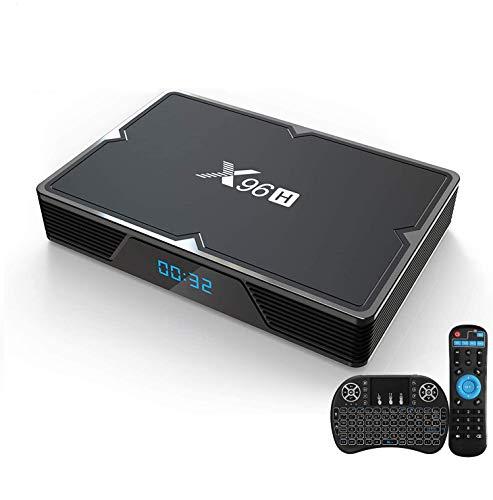 Android 9.0 TV Box 4GB RAM 64GB ROM, KMCBOX X96H Android Box Allwinner H603 Quad-Core 64bits Dual-WiFi 2.4G/5.0G,3D...