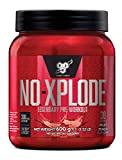 BSN Nutrition N.O.-Xplode Pre Workout Powder with Creatine Monohydrate, Beta Alanine, Caffeine, Vitamin D and Vitamin B Complex, Fruit Punch, 30 Servings, 600 g
