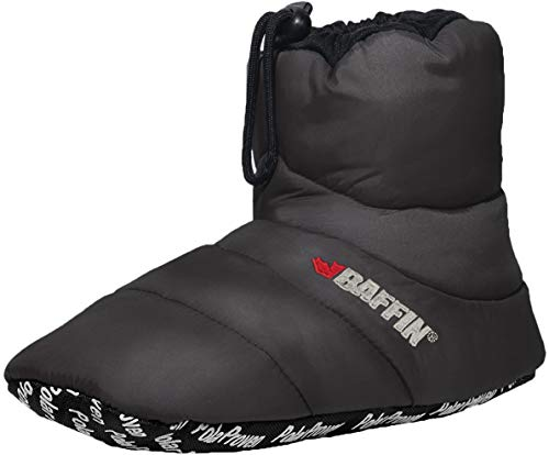 Baffin Unisex Cush Insulated Slipper Booty (Medium, Charcoal)