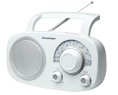 Blaupunkt BSA-8001 Table-Top Multi-Band analoges Radio mit Netzteil und Weltempfänger weiß