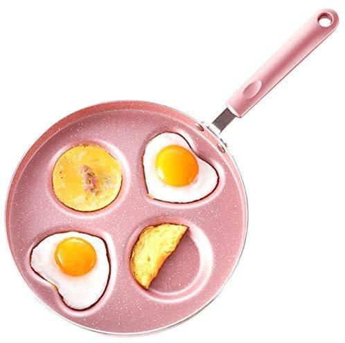 WSJ 26 CM 4 Fentes Omelette Poêles Poêle en Forme De Coeur Moule À Oeufs Anti-Adhésif Petit-Déjeuner Maker Batterie de Cuisine pour Cuisinière À Gaz
