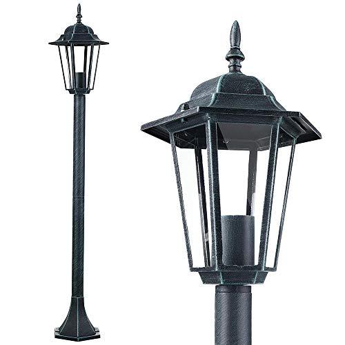 Bakaji Lampione Vittoriano Classico da Giardino in Alluminio e Vetro Lampada Lanterna Esagonale...