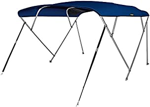 MSC 4 Bow Bimini Boat Top Cover with Rear Support Pole and Storage Boot, Color Grey, Burgundy,Navy,Beige Available (Navy, 4 Bow 8'L x 54