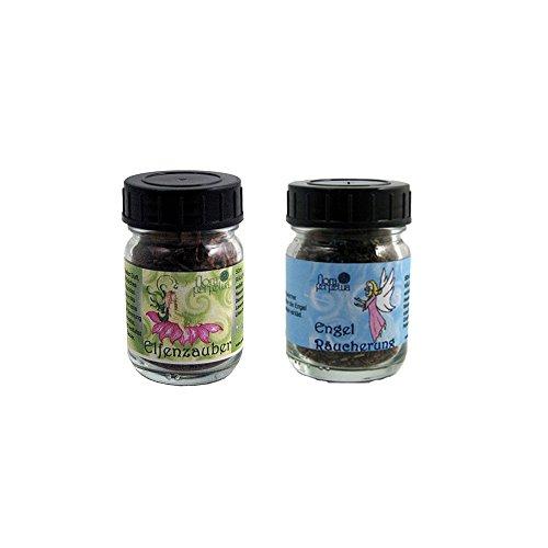 flora perpetua Thomas Kinkele e.K. Zauberhafte Räuchermischung 2er Set ELFENZAUBER und ENGELRÄUCHERUNG, in 50 ml Glasfläschchen
