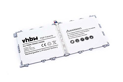 Batterie Li-Polymer 9500mAh (3.8V) vhbw pour Netbook Pad Tab Tablette Samsung Galaxy Tab Pro 12.2, SM-T900, SM-T905. Remplace T9500E.