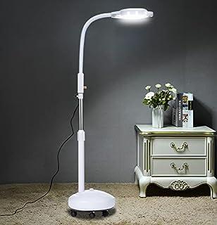 Led-vergrootglas Vloerlamp Met Wielen - 2-in-1 Rollende Vloerlamp Voor Esthetician - Vergrootglas Licht - Dimbaar Magnifie...