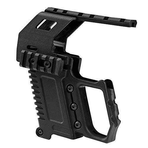 XFC-Bereich, Taktische Pistole Karabiner Kit Glock Schiene Basis Ladegerät for Glock 17 18 19 Airsoft Military Gun Scope Jagd 2 Farben (Farbe : Schwarz)