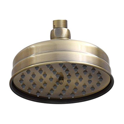 ENKI alcachofa de ducha fija clásica latón 150 mm redonda bronce antiguo