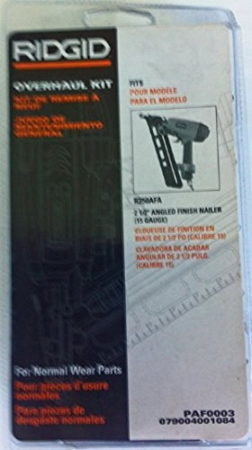 Ridgid R250AFA Angled Finish Nailer Overhaul Maintenance Kit # 079004001084