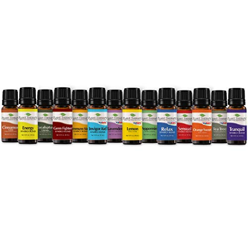 Plant Therapy 7 &Amp; 7 Essential Oils Set | 7 Single Oils: Lavender, Peppermint &Amp; More, 7 Synergy Blends In A Wooden Box | 100% Pure, Undiluted, Natural Aromatherapy, Therapeutic Grade | 10 Ml (1/3 Oz)