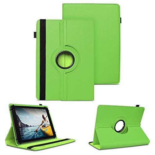 NAUC Tablet Hülle kompatibel für Medion Lifetab E10430 E10604 E10412 E10511 E10513 E10501 Tasche Schutztasche Hülle 360° Drehbar, Farben:Grün