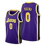 Z/A Los Angeles Lakers Kyle Kuzma # 0 Ropa De Baloncesto Jersey Men's Sportswear Entrenamiento Deportivo Sudadera Suelta Chaleco De Manga Corta Top Camiseta,XL