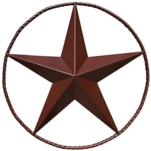 Scheunenstern – Metallsterne für draußen Texas Sterne Kunst Rustikal Vintage Western Landhaus Bauernhaus Wanddekoration (61 cm)