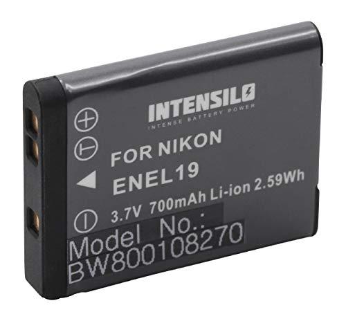 INTENSILO batteria sostituisce Nikon EN-EL19 per fotocamera digitale DSLR (700mAh, 3,7V, Li-Ion)