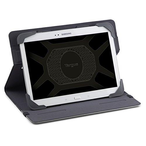 Targus THZ66204GL Fit N Grip universelle drehbare Tablet-Hülle für 7-8 Zoll - Grau