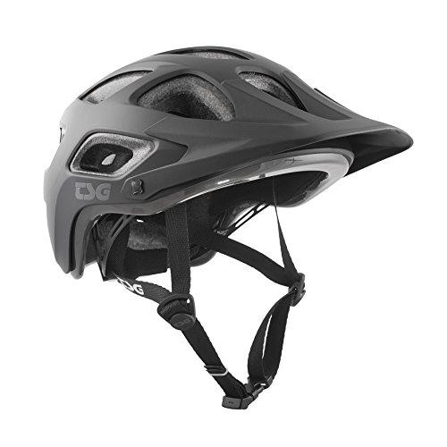 TSG Erwachsene Seek Solid Color Helm, Satin Black, L/XL