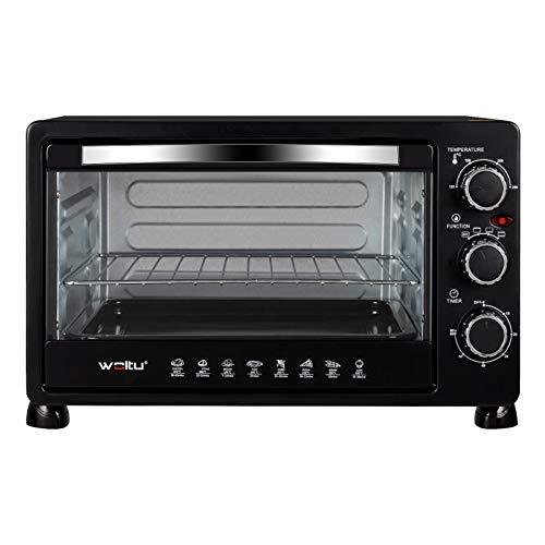 WOLTU BF11sz Mini Backofen 25 Liter, 1400 Watt Toasterofen | Pizzaofen | Krümelblech mit Timer Minibackofen für Pizza, Toast, Truthahn, Hot Dogs Schwarz