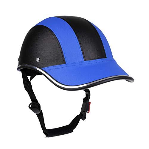 Helm Fahrrad Herren Verstellbarer Unisex Fahrrad Fahrradhelm Baseball Cap Anti Uv Sicherheit Männer Frauen-Schwarz Blau