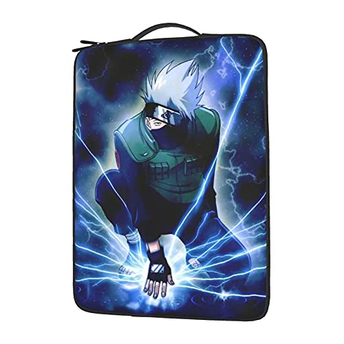 Anime NARUTO Hatake Kakashi Laptop Sleeve Protective Soft Padded Zipper Cover Carrying Computer Bag With 13-15in Notebook Tablet14 inch