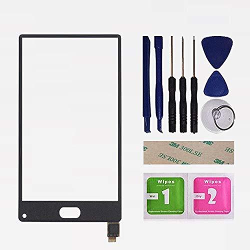 携帯電話5.5「」インチフィットLeagoo KiicaaミックスLCDディスプレイ+タッチスクリーンデジタイザの修理部品は、ガラスが画面交換を交換し、ツール画面用に (Color : Black Touch)
