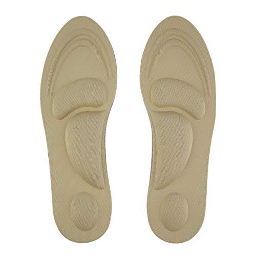 Gugutogo Mujeres Pies Cuidado Masaje Tacones altos Esponja 3D Plantillas de zapatos Cojines Almohadillas DIY Corte Sport Arch Support Orthotic