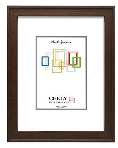 Chely Intermarket, Marco de Madera 30x45 cm (Marrón) MOD-289, Hecho con Madera sólida, Grosor de Perfil 2cm con Acabado Elegante (289-30x45-0,70)