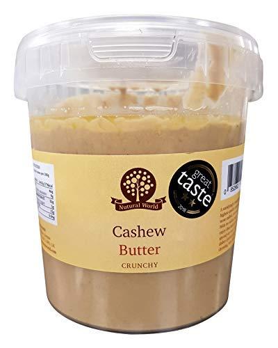 Nutural World - Mantequilla Crujiente de Anacardo (1kg) Galardonado al Mejor Sabor