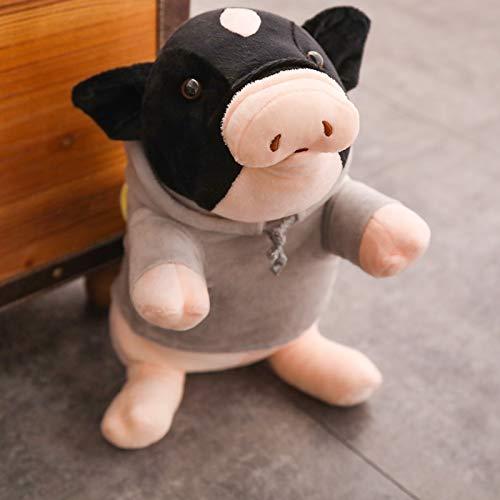 Cartoon Piggy Knuffels, Zwart Gevlekte Varken Knuffels Poppen, Knuffels Kinderen Jongens Meisjes Troostende Gift 40Cm
