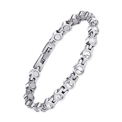 Magnetic Bracelet for Women,Beauty Therapy Titanium Steel Magnetic...