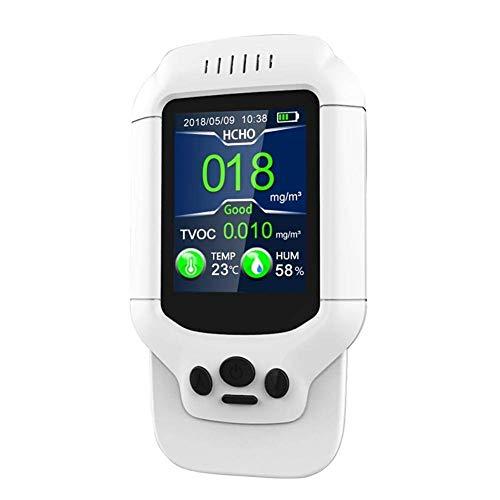 BXU-BG Tragbarer Luftqualitätsmonitor, Innenluftverschmutzung-Monitor, Formaldehyd, PM2.5, VOC, PM1.0, PM10 Detector Temperatur- und Feuchtigkeitstest mit bunten LCD-Bildschirm Echtzeit
