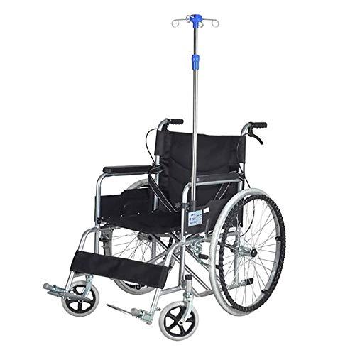 summerr Infusionsstaender, IV Ständer für Rollstuhlfahrer, IV-Stange mit Edelstahl, höhenverstellbarer Displayständer