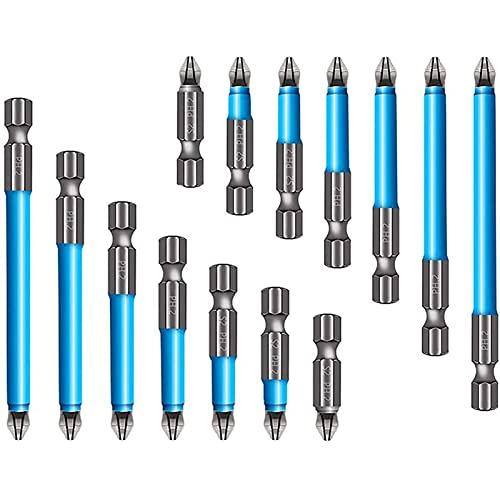 7 Piezas Broca Magnética Antideslizante (2 Juegos), Juego Puntas Destornillador Magnético PH2 Antideslizante En Cruz Una Sola Cabeza Compatible Con Taladros Eléctricos Y Destornilladores Impacto