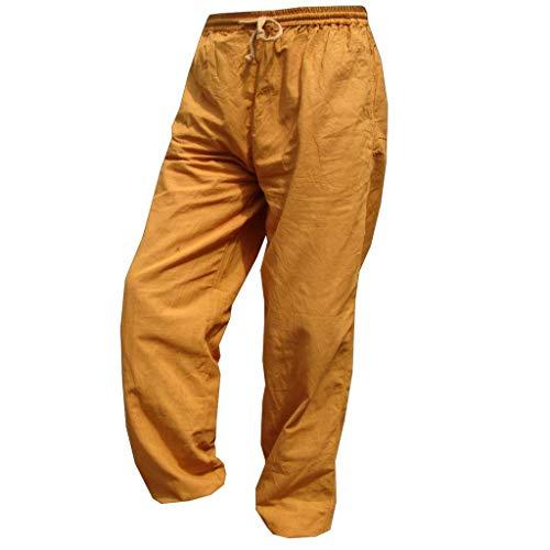 PANASIAM E'Pants Long, Cotton, golden, L