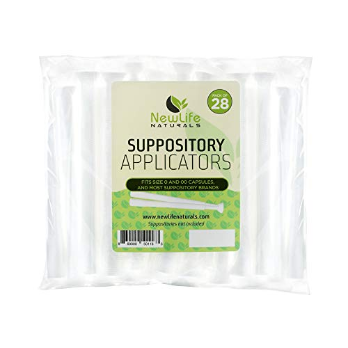 Disposable Plastic Vaginal Suppository Applicators: Individually Wrapped Suppository Applicator for Women - Fits Most Boric Acid Suppositories, Pills, Tablets and Size 0 and 00 Capsules - 28 Pack