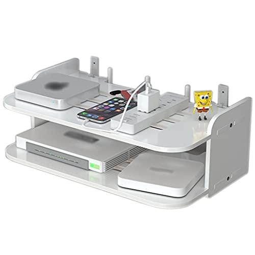 Router rack Caja De Almacenamiento De Ruta Estantes De Enrutador Caja De Administración De Cables Multifuncional Montada En La Pared Estante De Enrutador para WiFi En El Hogar