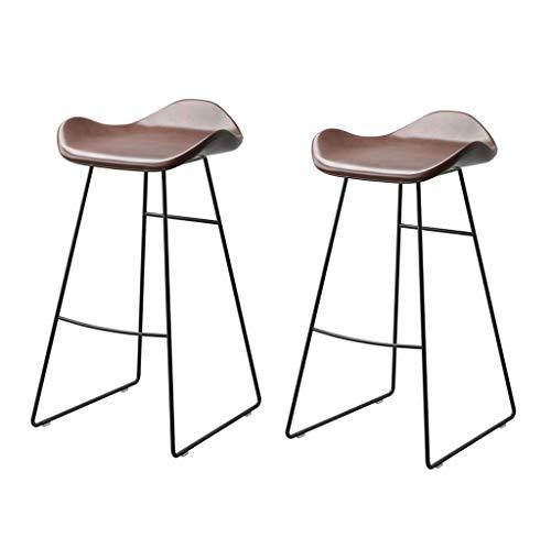 WJSW Barmöbel Barhocker Barstuhl im nordischen Stil |Home Küche Esszimmerstühle |Creative Pub High Stool, Set 2/3/4, tragend 300 kg (Farbe: 2er-Set)