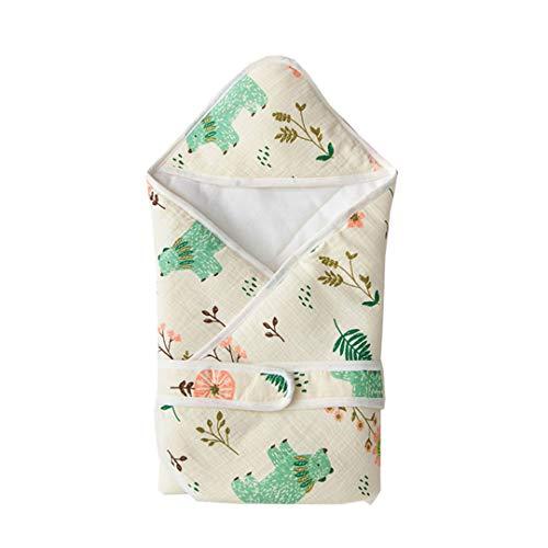 Fairy Baby Coton Couverture Réversible Sac de Couchage pour Nouveau-né size 80 * 80 (Forest Bear)