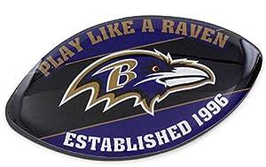 aminco NFL Baltimore Ravens Team Football Magnet