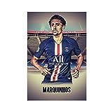 Super Star Soccer Player Marquinhos Sports Poster 03 Canvas Poster Art Decor Cuadro Cuadro Cuadro Cuadro Cuadro Cuadro para Sala Dormitorio Decoración 40×60cm Unframe-style1