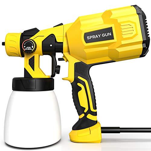 Farbsprühsystem 800ml, papasbox Elektrische Farbspritzpistole 550W zum Sprühen von Farbe auf Wand, Metall und Holzoberfläche