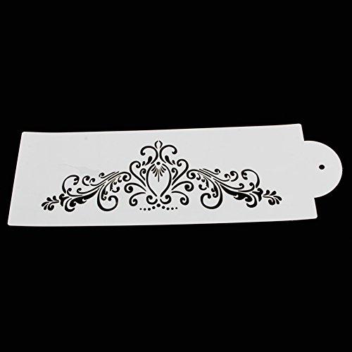 Xuniu 4 pièces Dentelle Fleur gâteau Fondant Biscuit Face Cuisson Pochoir Wedding Que Decora Outils de Bricolage Blanc 28 x 12 cm/25 x 12 cm/24 x 12 cm/33 x 7 cm